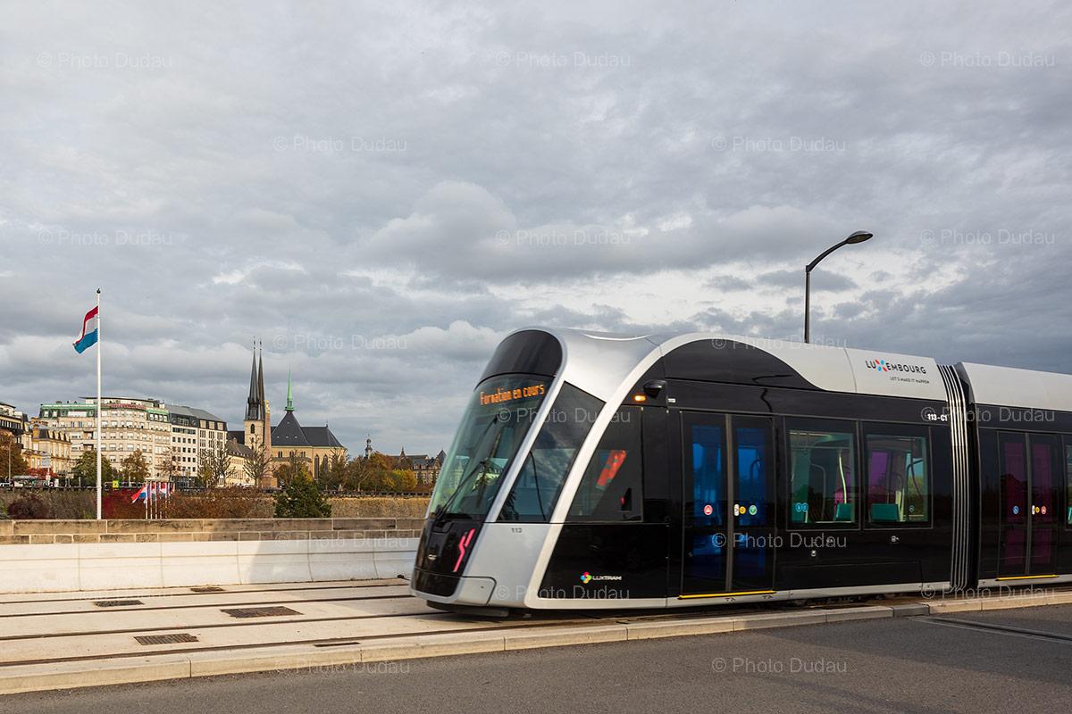 Tram on Pont Adolphe