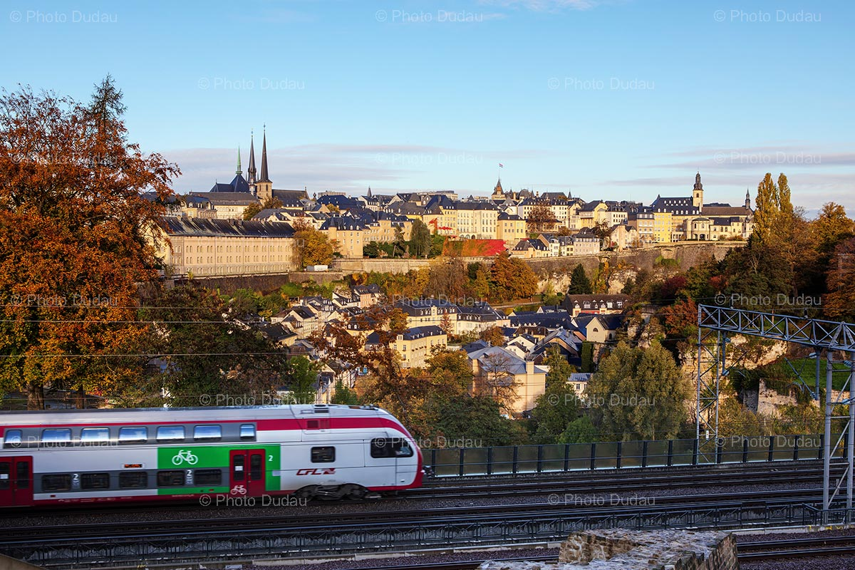 Train in Luxembourg city