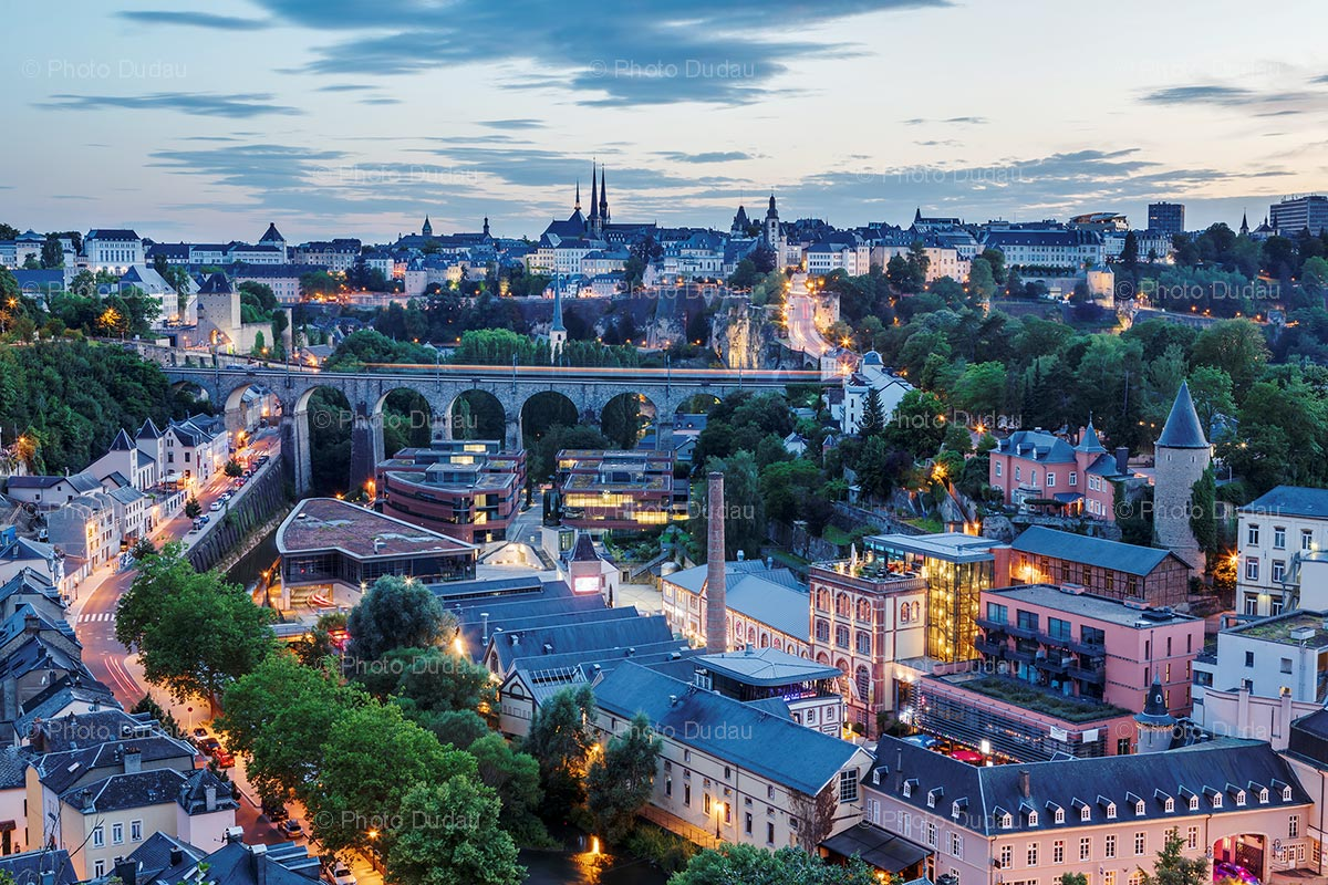 Clausen in Luxembourg city at sunset