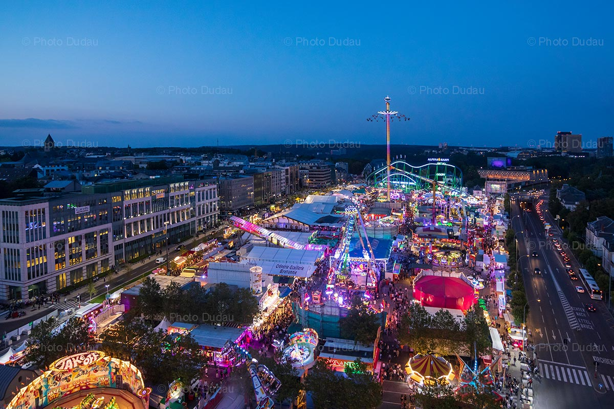 Schueberfouer at night in Luxembourg