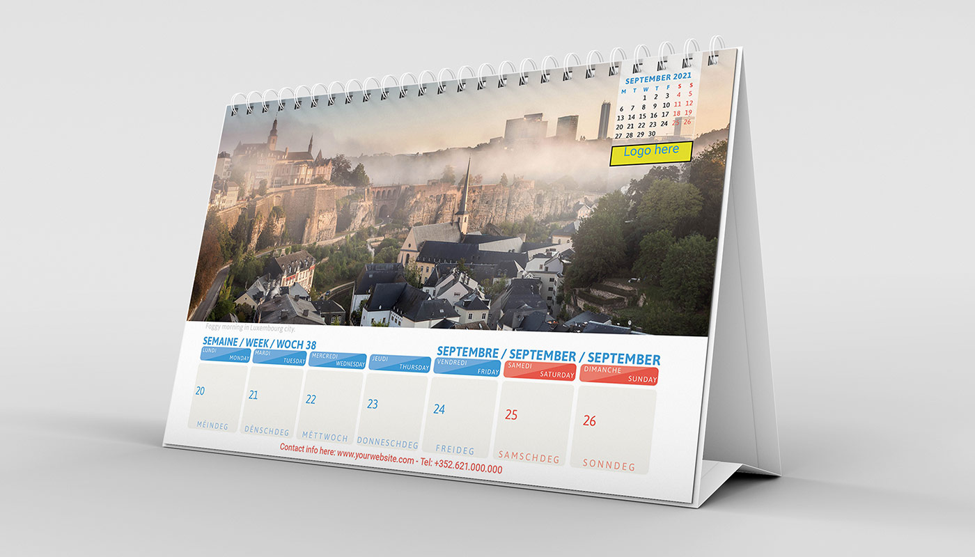 Luxembourg Business Calendar Desk