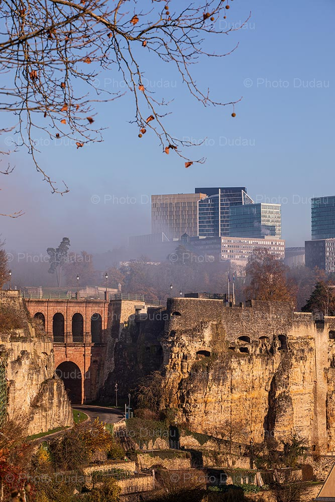 Old vs new contrasts in Luxembourg city